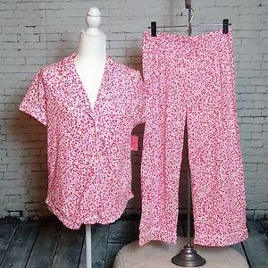 Kate Spade Confetti Heart Pajama Set Sz. Small